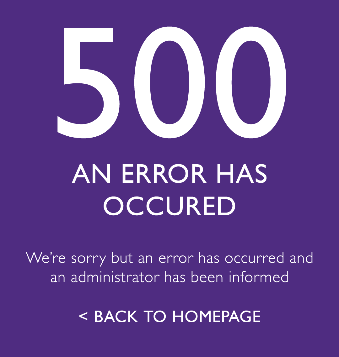 500 - An error has occured