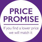 Price Promise - if you find a lower price we will match it