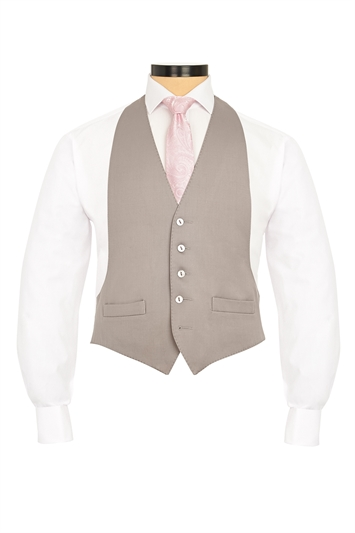 Dove Grey traditional morning vest