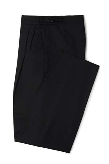 Black herringbone morning trouser