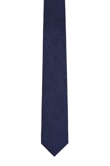 Moss London Navy large Floral Tie