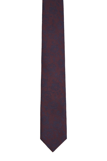 Moss London Wine large Floral Tie