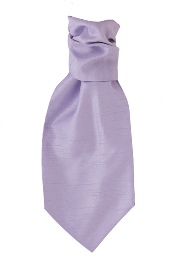 Lilac Polyester Self Tie Cravat