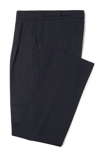 Lincoln navy blue herringbone morning trouser