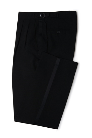 Black Dinner Trousers with satin piping