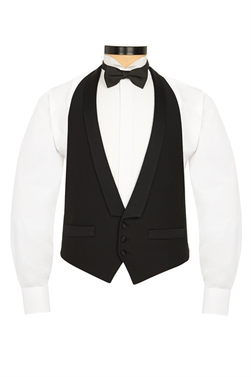 Black evening vest with Satin lapel