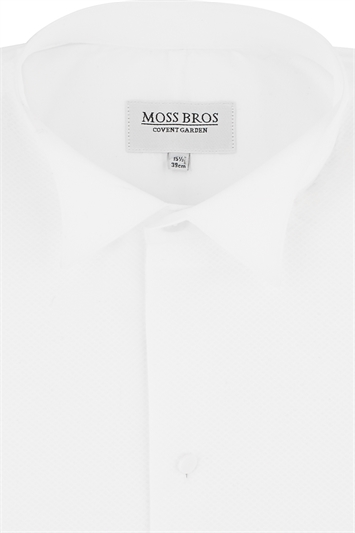 Moss Bros. Marcella Wing Collar Dress Shirt with Dual Cuffs