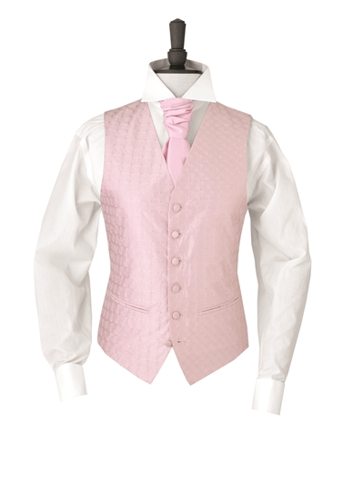Junior Creswell Pink embroidered morning waistcoat
