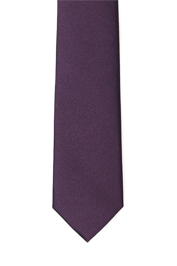 Purple Skinny Two Tone Tie