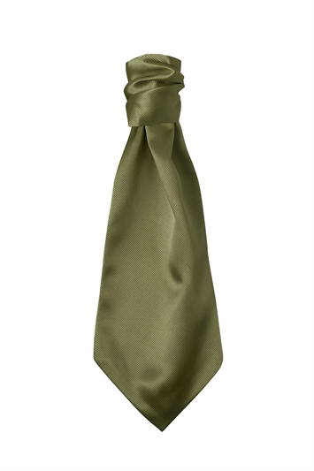 Moss Green Polyester Twill Polyester Self Tie Cravat