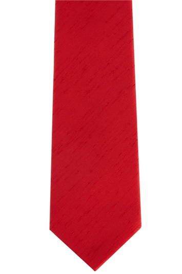 Scarlet Polyester Tie