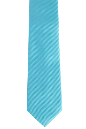 Turquoise Polyester Twill Tie