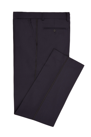 Moss 1851 Navy Jacquard Dinner Trousers