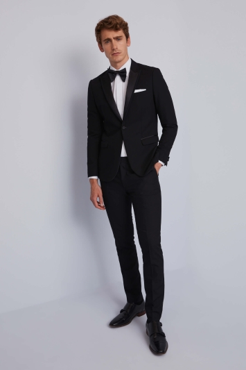 Men S Black Tie Suit Tuxedo Hire From 42 Moss Hire