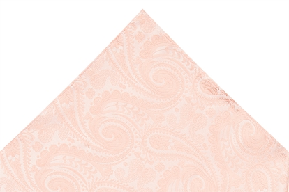 Moss 1851 Peach Paisley Pocket Square