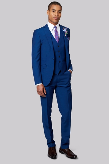 Moss London Bright Blue Suit