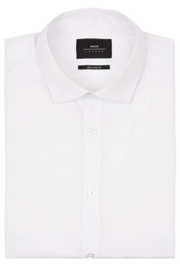 Moss London Extra Slim Fit Regular Collar Dress Shirt with Button Cuffs