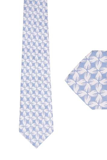 Ted Baker Blue Print tie & hank set