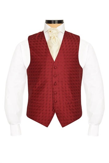 Caprice Burgundy embroidered morning waistcoat