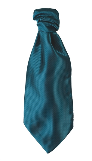 Teal Polyester Twill Self Tie Cravat