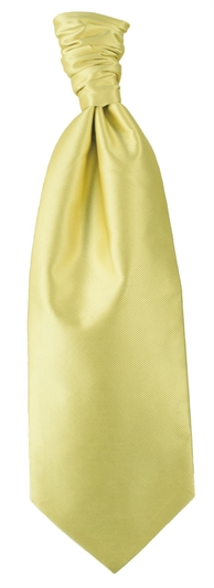 Lemon Polyester Twill Self Tie Cravat