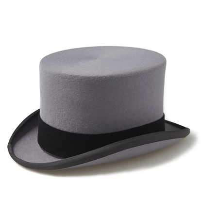 Junior Grey Top Hat