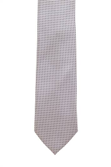 Genova Grey Polyester Patterned Tie
