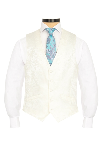 Junior Ted Baker cream morning waistcoat