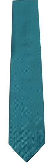 Teal Polyester Twill Tie
