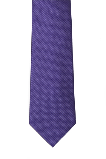Ted Baker purple natte tie & hank set