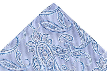 Jnr Ted Baker Light Blue Paisley tie & hank set