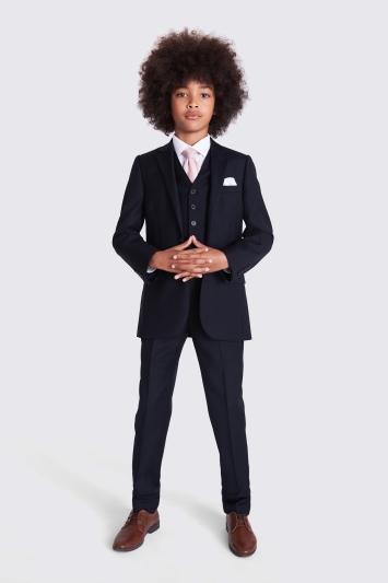 4634454cf57c Moss 1851 Boys Navy Blue Lounge Suit