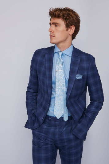 Ted Baker Blue Check Lounge Lizard Suit
