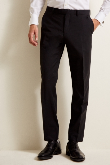 MOSS 1851 BLACK PERFORMANCE TROUSERS