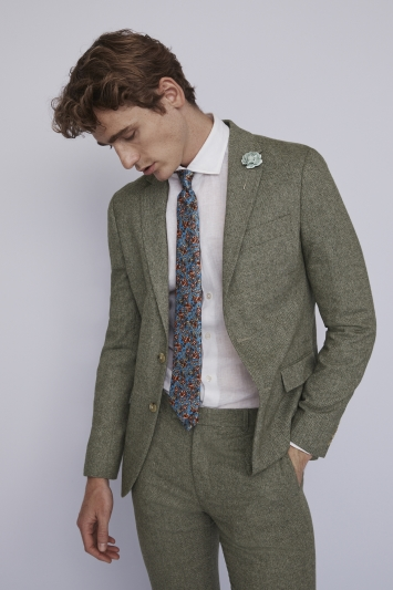Moss London Sage Herringbone Jacket