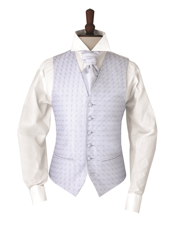 Junior Beckbury Pale Blue embroidered morning waistcoat