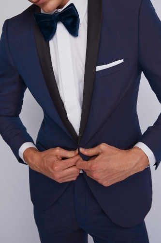 Moss London Blue Dinner Jacket