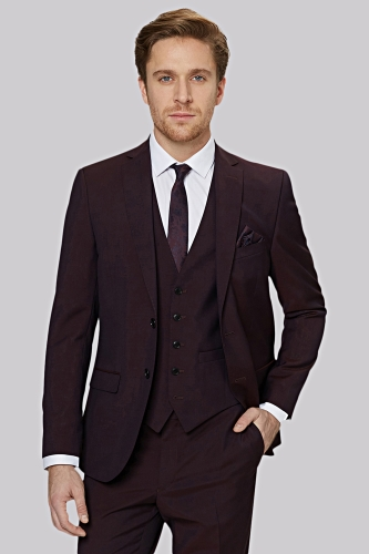 Moss London Burgundy Suit