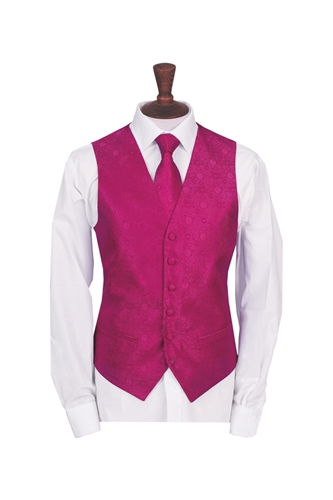 Junior Salerno Hot Pink floral morning waistcoat