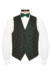 Valencia Green floral patterned evening waistcoat