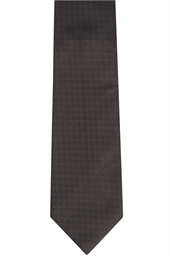 Black Morning Self Patterned Tie