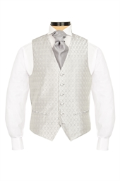Hawkstone Grey diamond patterned morning waistcoat