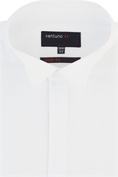 Ventuno Slim Fit Wing Collar Dress Shirt with Button Cuffs