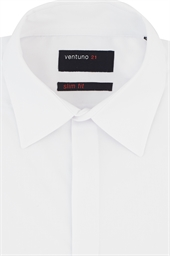 Ventuno Slim Fit Regular Collar Dress Shirt with Button Cuffs