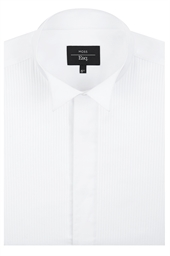 Moss Esq. Regular Fit Wing Collar Dress Shirt with Dual Cuffs
