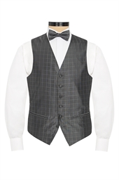 Veneto Gunmetal lattice patterned waistcoat
