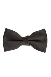 Black Self Tie Bow