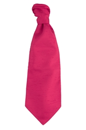 Hot Pink Self Tie Cravat