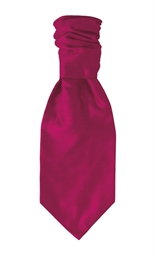 Hot Pink Polyester Self Tie Cravat