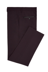 Moss London Claret Dinner Trousers